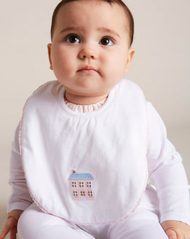 House Embroidered Cotton Bib - ACCESSORIES - PEPA AND CO