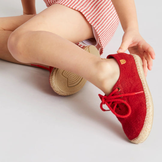 Boy's Red Espadrilles - Shoes - PEPA AND CO