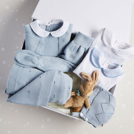 Blue Knitted 6 Piece Gift Set - Set - PEPA AND CO