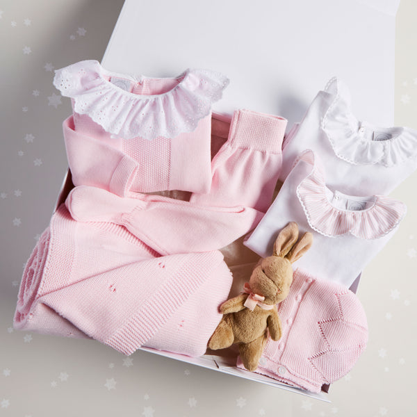 Pink Knitted 6 Piece Gift Set - Set - PEPA AND CO