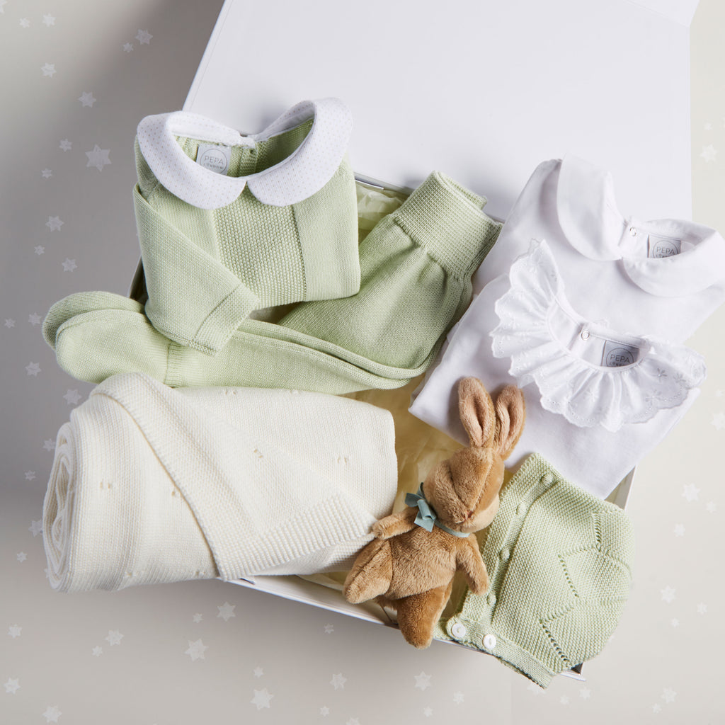 Green Knitted 6 Piece Gift Set - Set - PEPA AND CO