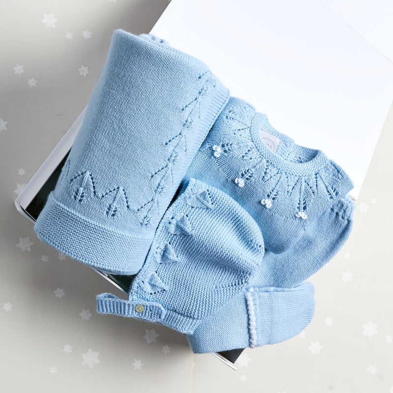 Blue Openwork Knitted Gift Set - GIFT SET - PEPA AND CO