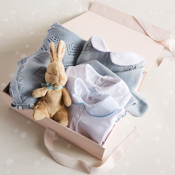 Knitted Blue 6 Piece Gift Set - Gift Set - PEPA AND CO