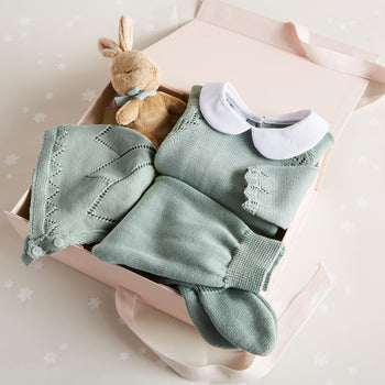 Knitted Green 3 Piece Gift Set - Gift Set - PEPA AND CO