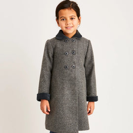 Traditional Grey Wool Coat - Coat - PEPA AND CO