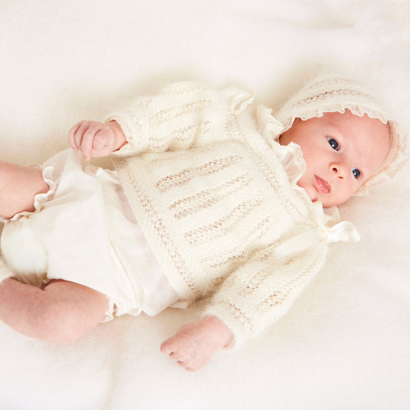 Ivory Knitted Special Occasion Set with Angora - KNITTED - PEPA AND CO