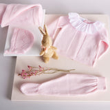 Pink Cotton Bonnet - Bonnet - PEPA AND CO