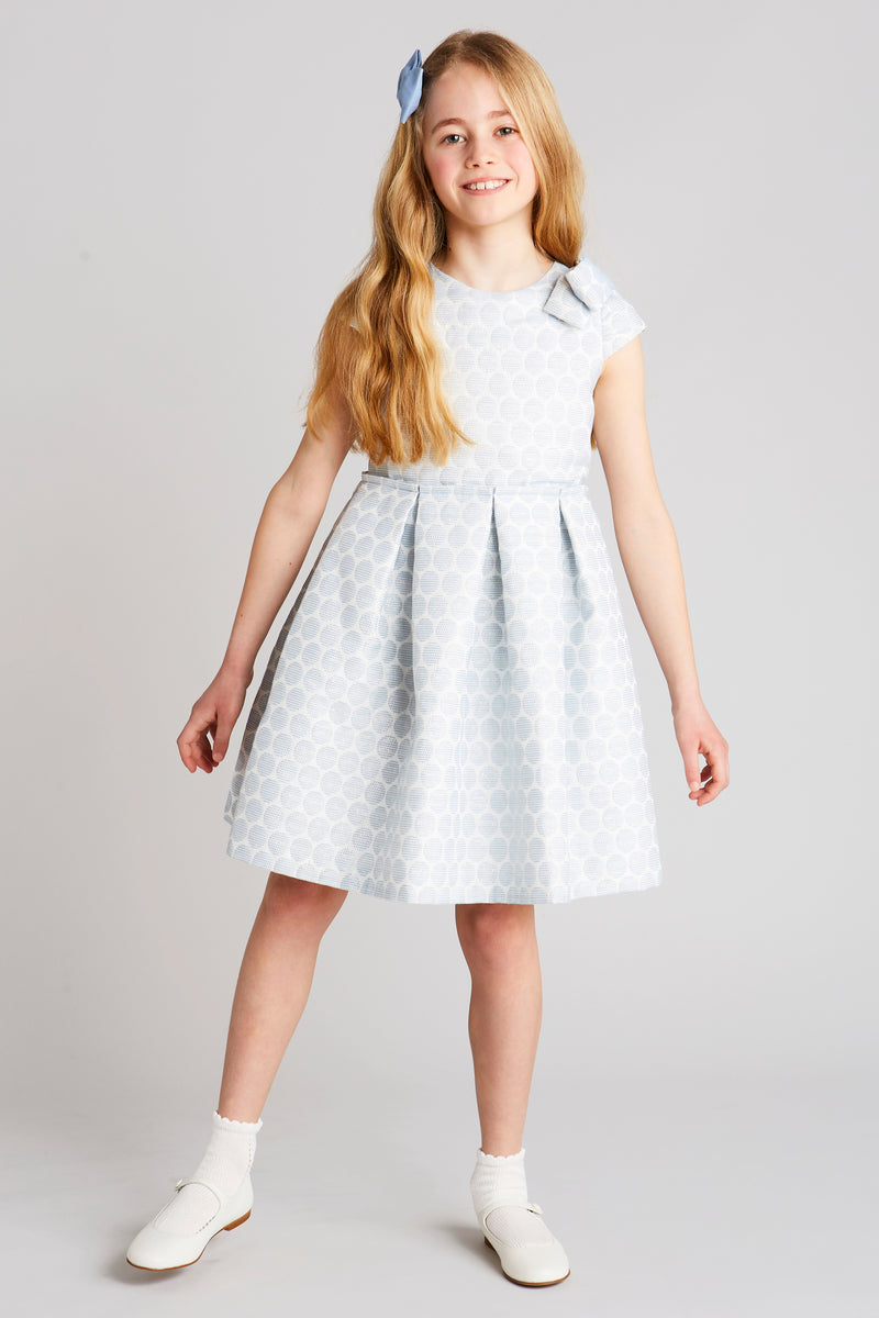 Jacquard Polka Dot Special Occasion Dress - Dress - PEPA AND CO