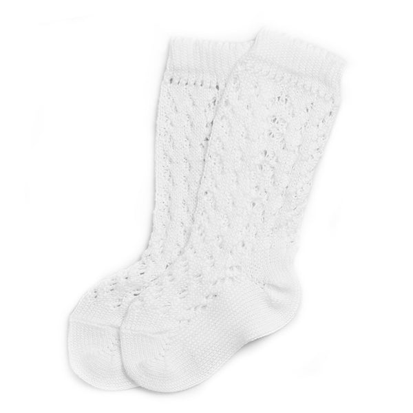 Openwork Knee High Socks White - Socks - PEPA AND CO