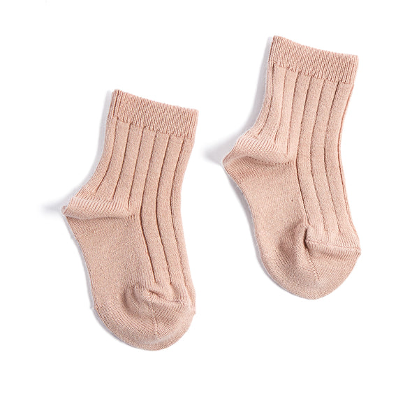 Ribbed Short Socks - Dusty Pink - Socks - PEPA AND CO