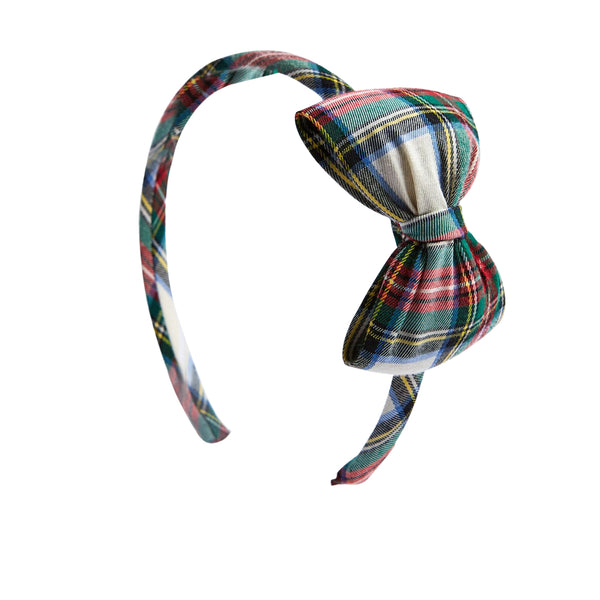 Tartan Red Bow Hairband - HAIR ACCESSORIES - PEPA AND CO