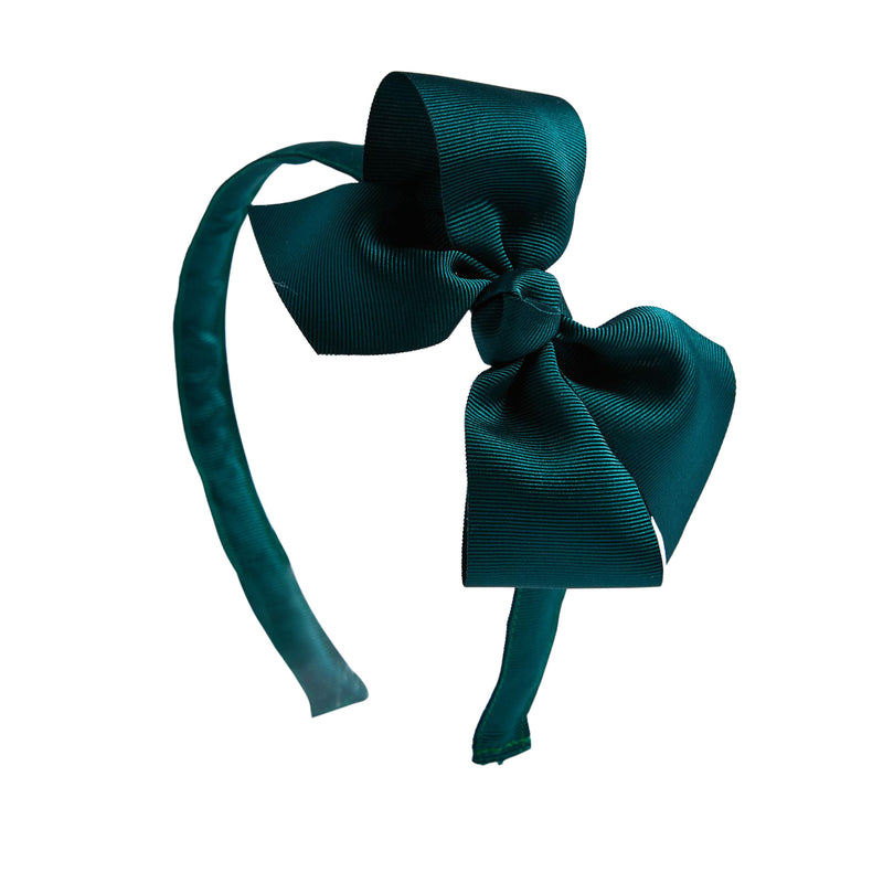 Emerald Green Big Bow Hairband - Hair Accessories - PEPA AND CO