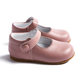Leather Pink Mary Jane Baby Shoes - SHOES - PEPA AND CO