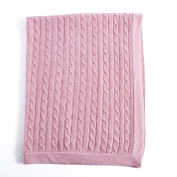 Pink Cashmere Pram Blanket - Knitted Acc - PEPA AND CO
