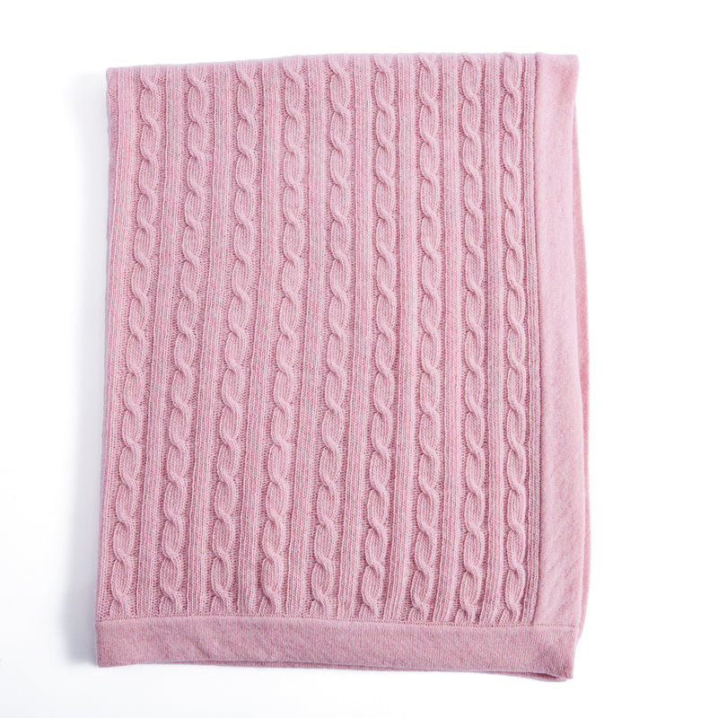 Pink Cashmere Pram Blanket - Blanket - PEPA AND CO