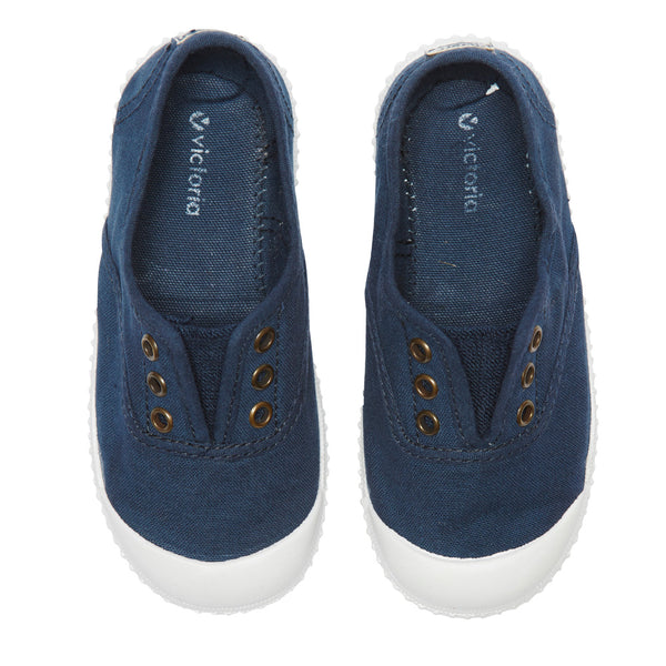 Navy Plimsolls - Shoes - PEPA AND CO