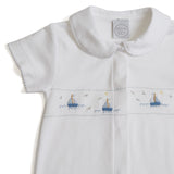 Soft Cotton Baby Boys Pyjama with Embroidered Boats