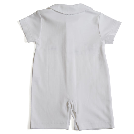 Soft Cotton Baby Boys Pyjama with Embroidered Boats - Pyjama - PEPA AND CO