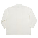 Boy's white double-breasted Mandarin collar shirt