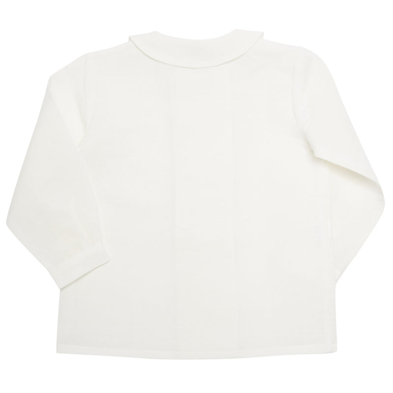 Boy's white double-breasted Peter Pan collar shirt - Shirt - PEPA AND CO