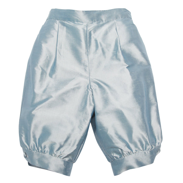 Blue Silk Pageboy Knickerbockers - Trousers - PEPA AND CO