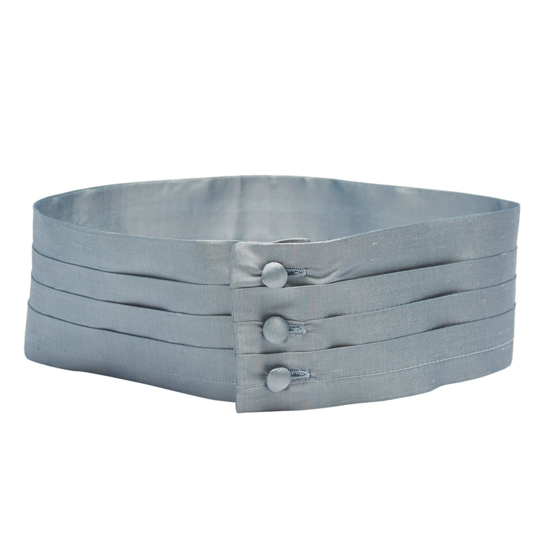 Pageboy's blue silk cummerbund