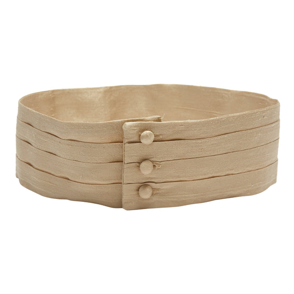 Beige Silk Pageboy Cummerbund - Belt - PEPA AND CO