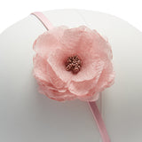 Girl's single flower hairband - Pink Camellia - Hair Accessories - PEPA AND CO