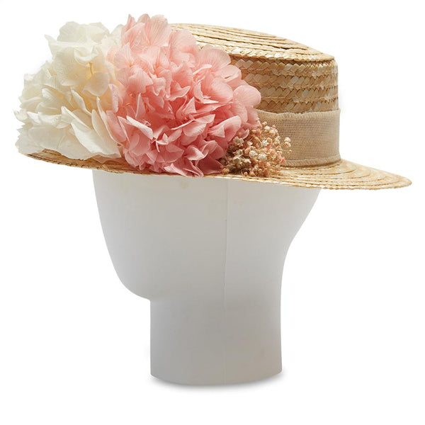 Girls Pink and White Hydrangeas Celebration Hat - Celebration - PEPA AND CO