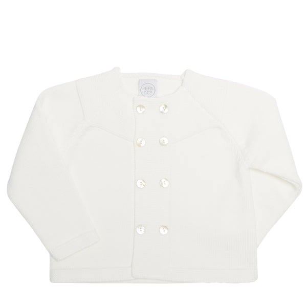 Boy's occasion ivory cardigan