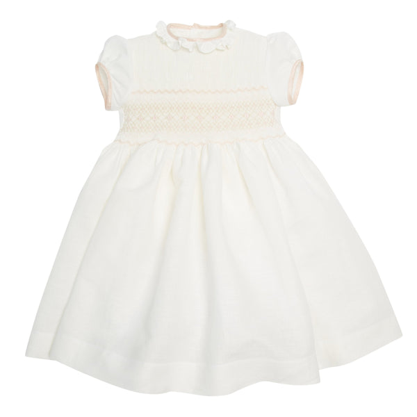Girl's occasion dress smocked in Pink - Dress - PEPA AND CO