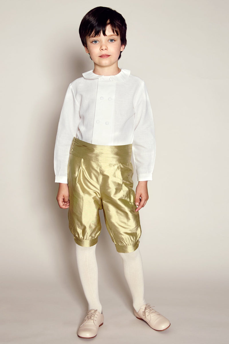 Pageboy's green silk knickerbockers - Trousers - PEPA AND CO