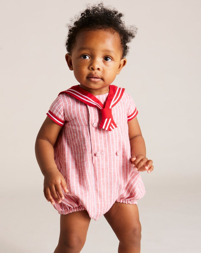 Traditional Red Mariner Romper - Romper - PEPA AND CO