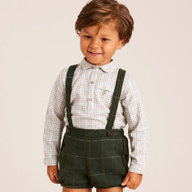 Green Checked Bloomers with Braces - BLOOMER - PEPA AND CO