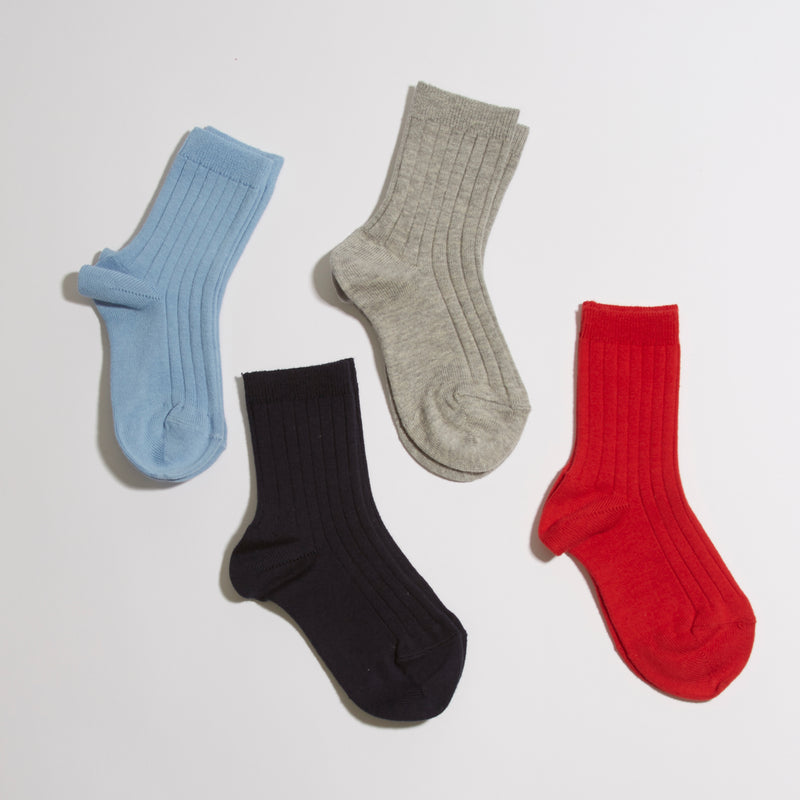 Ribbed short socks - Light Blue - Socks - PEPA AND CO
