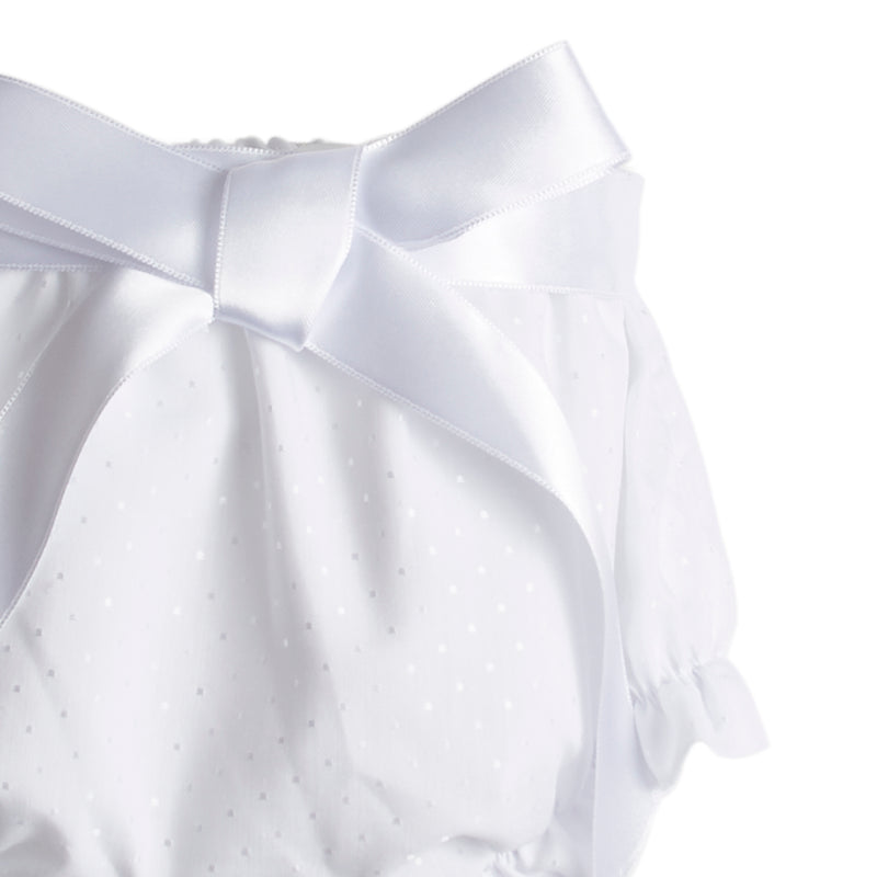 Newborn Bloomer with Satin Bow - Bloomers - PEPA AND CO