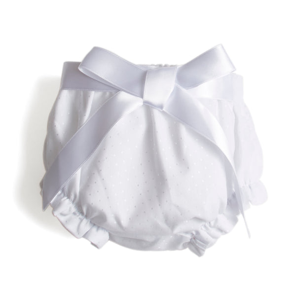 Newborn Bloomer with Satin Bow