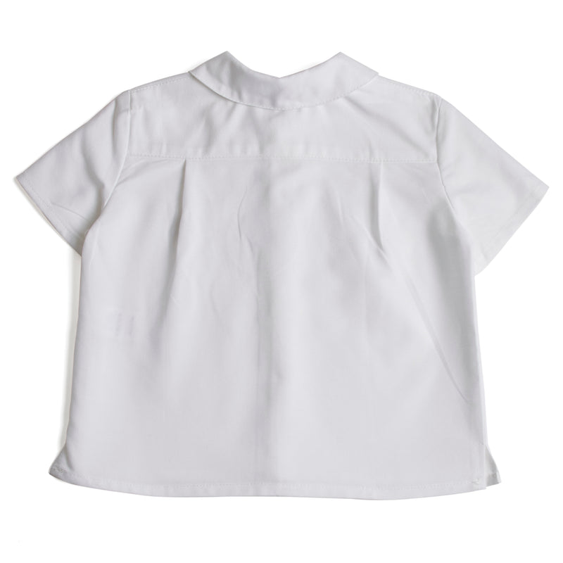 Classic Oxford Baby Shirt with Peter Pan Collar in White