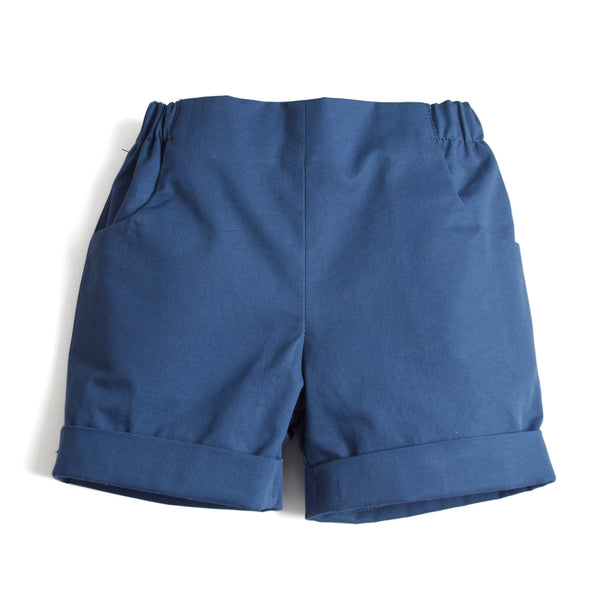 Classic Cotton Baby Shorts Blue - Shorts - PEPA AND CO