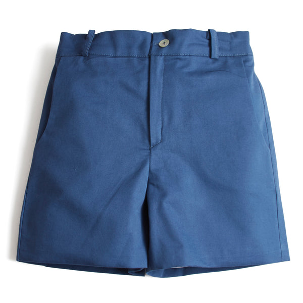 Classic Cotton Boys Shorts Blue - Shorts - PEPA AND CO
