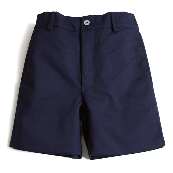 Classic Cotton Boys Shorts Navy - Shorts - PEPA AND CO