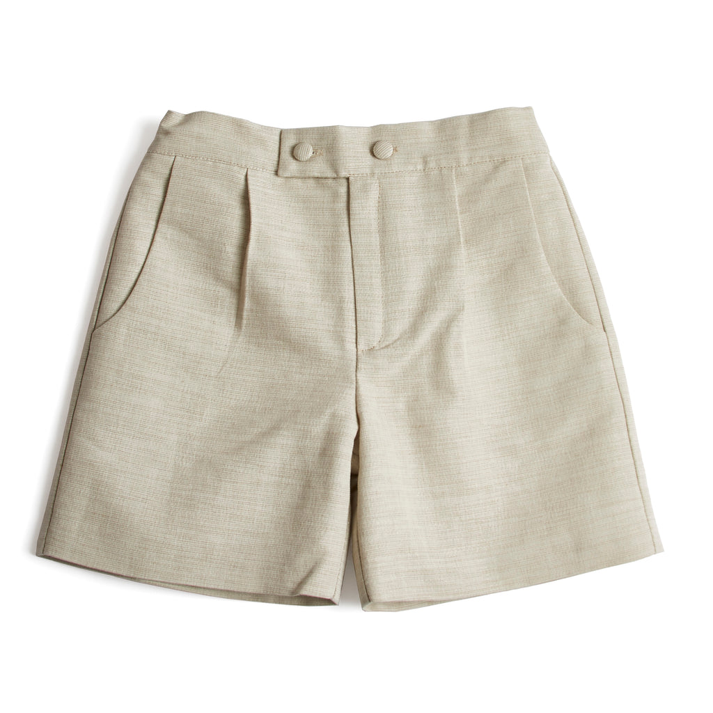 Boys Celebration Shorts Beige - Shorts - PEPA AND CO