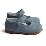 Suede Mary Jane Shoes Baby Blue