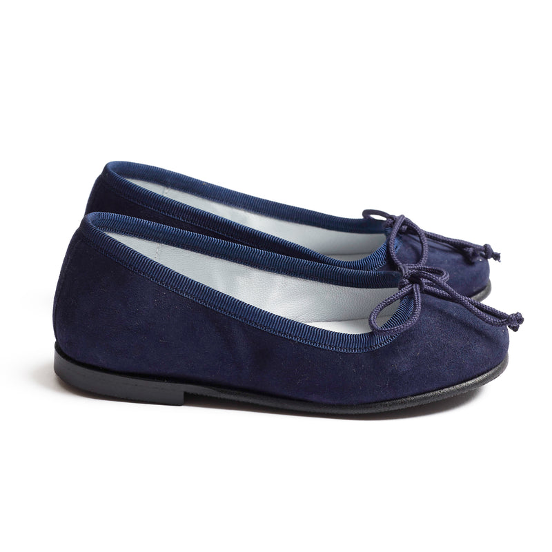 Suede Girls Ballerinas Navy - Shoes - PEPA AND CO