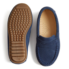 Suede Loafers Boys Shoes Blue