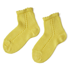 Openwork Short Socks - Yellow - Socks - PEPA AND CO
