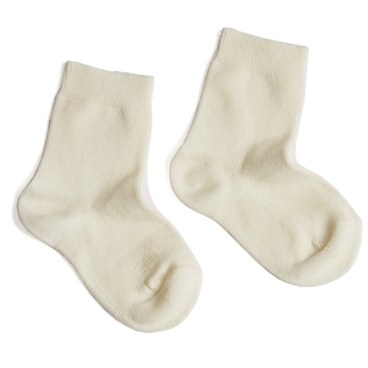 Cotton Short Socks Cream - Socks - PEPA AND CO