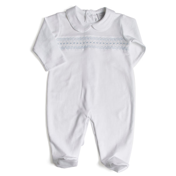 Nightwear Bodysuit Smocked in Blue