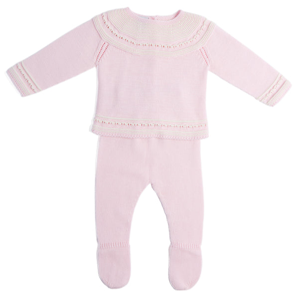 Delicate Pink Striped Cotton Set - Set - PEPA AND CO