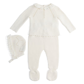 Delicate Ivory Lace Cotton Set - Set - PEPA AND CO